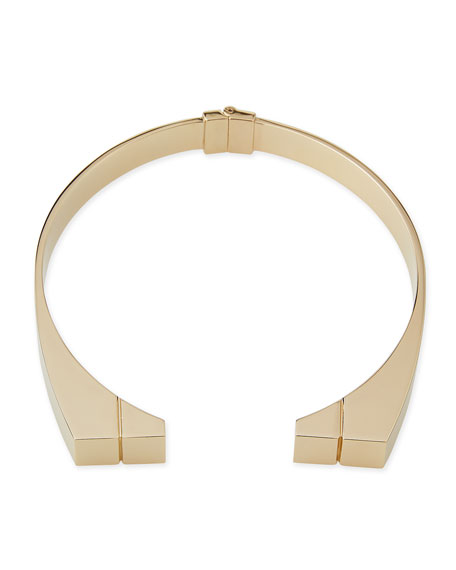 Jason Wu 24K Engraved Bar Choker Necklace