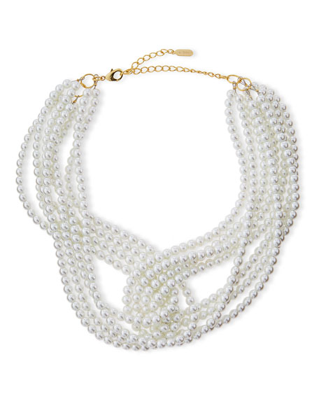 Lisa Freede Marilyn Multi-Strand Pearly Necklace
