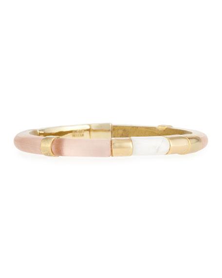Alexis Bittar Colorblock Crystal Hinge Bracelet, Peach