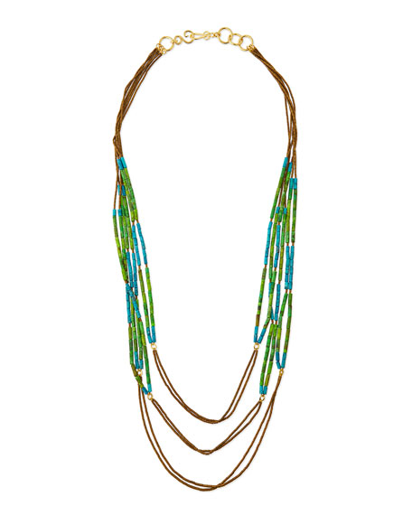 Stephanie Kantis Green & Turquoise Howlite Multi-Strand Necklace