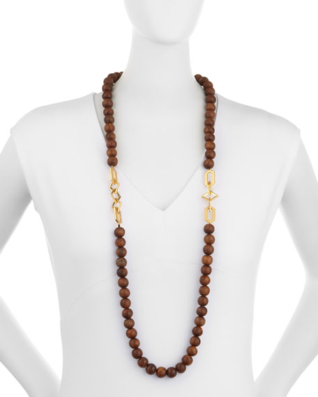 Timber Wooden Bead Necklace
