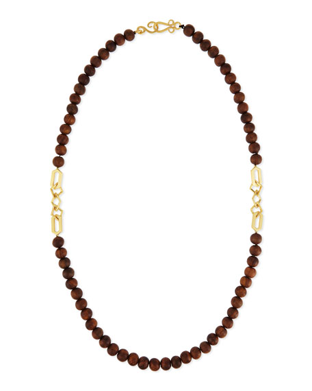 Stephanie Kantis Timber Wooden Bead Necklace