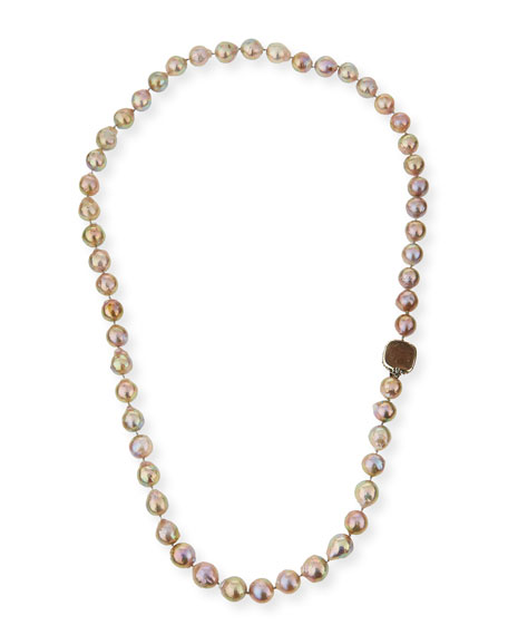 Stephen Dweck Long Champagne Pearl Single-Strand Necklace