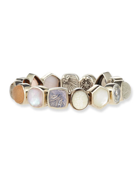 Carved Mother-of-Pearl & Champagne Bracelet