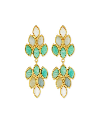 Captivate Amazonite Chandelier Earrings