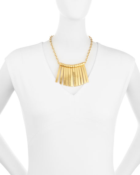 Seagrass Stick Bib Necklace