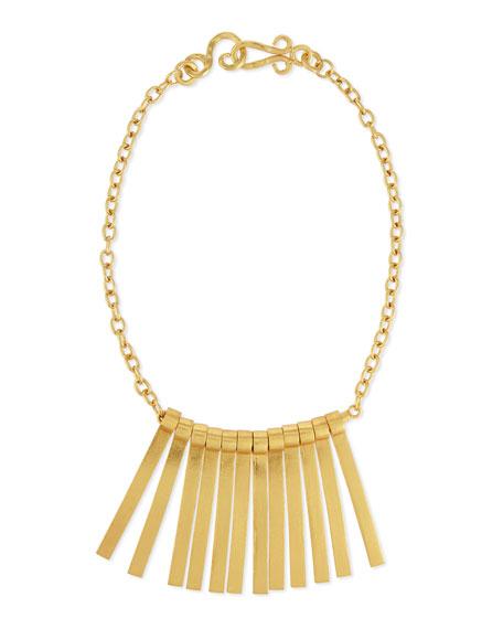 Seagrass Stick Bib Necklace