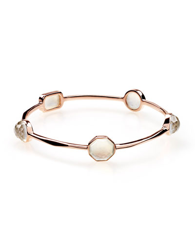Rosé Rock Candy Five-Stone Bangle Bracelet