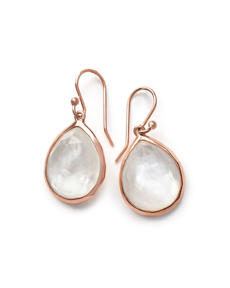 Ippolita Wonderland Rosé Teardrop Earrings in Quartz Doublet