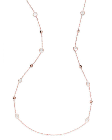 Rosé Rock Candy Small Station Necklace, 37