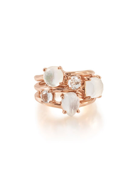 Rosé Rock Candy Three-Stone Ring, Size 7