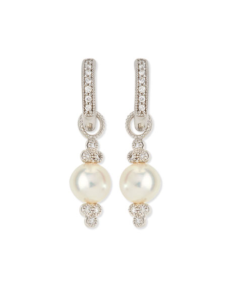 JudeFrances Jewelry Small 18K White Gold Provence Pearl