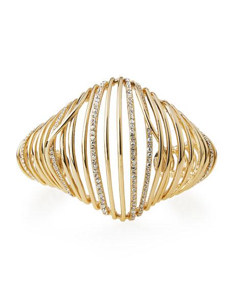 Orbital Crystal Cuff Bracelet