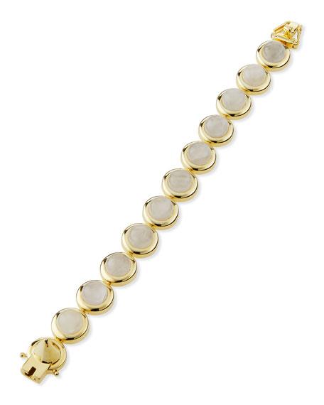 14K Gold Round Dome Bracelet