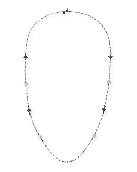 Armenta Old World Tahitian Pearl Station Necklace with
