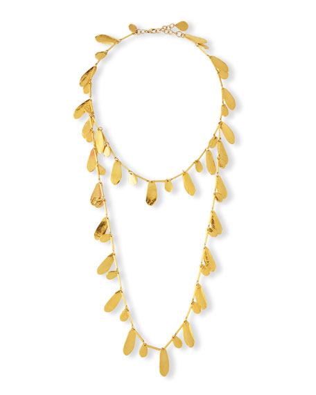 18k Gold-Dipped Layered Petal Necklace