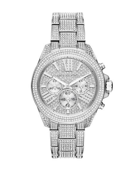 MICHAEL MICHAEL KORS 41.5mm Wren Pavé Crystal Watch