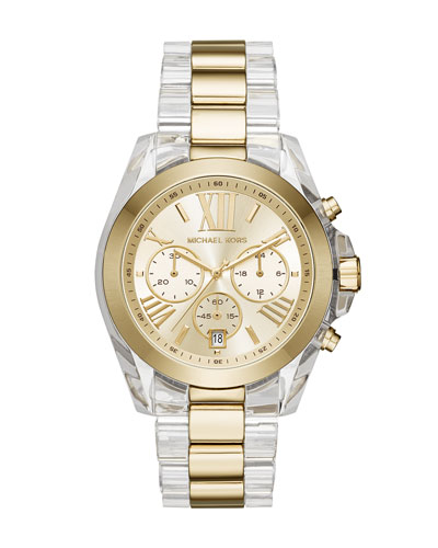 43mm Bradshaw Acetate Watch, Golden