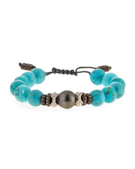 Armenta New World Tahitian Pearl & Magnesite Bracelet