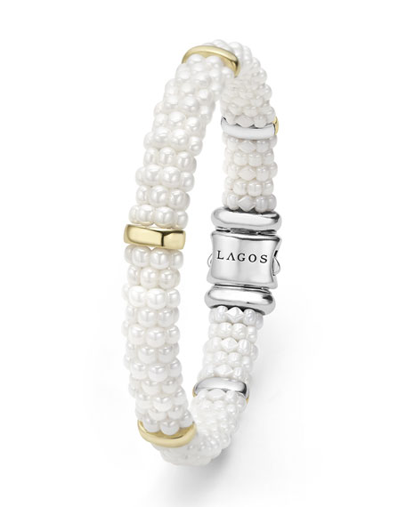 Lagos Ceramic 9mm Pearl Caviar Bracelet