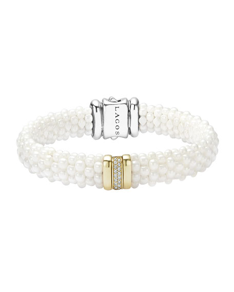 Lagos Caviar Ceramic Pearl & Diamond Bar Station