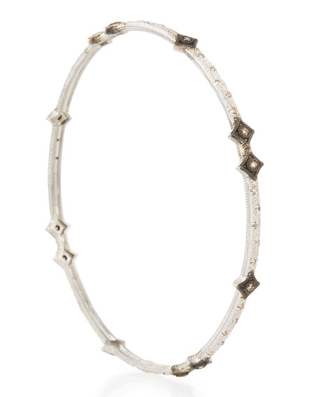 New World Midnight Scattered Crivelli Bracelet with Diamonds