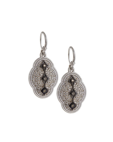 New World Midnight Scalloped Earrings with Diamonds