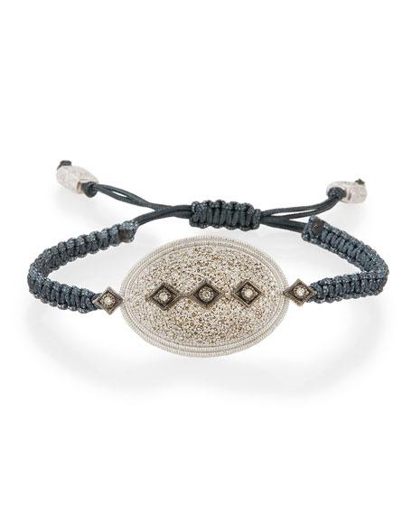New World Midnight Pavé Diamond Pull-Cord Bracelet