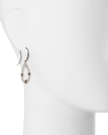 New World Midnight Open Pear Drop Earrings with Diamonds