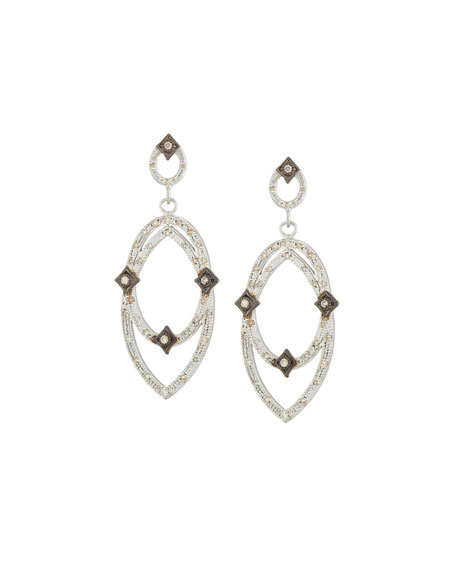 New World Midnight Open Crivelli Earrings with Diamonds