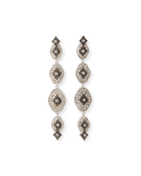 Armenta New World Midnight Linear Crivelli Drop Earrings
