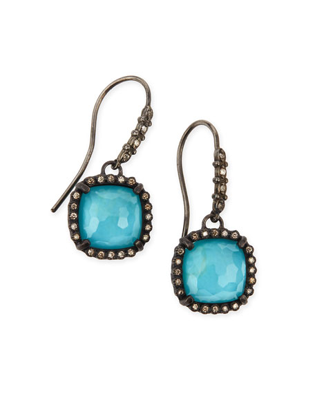 Armenta Old World Midnight Cushion Doublet Earrings with