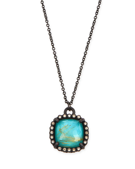 Armenta Old World Midnight Cushion Doublet Pendant Necklace