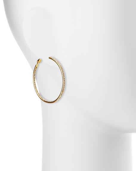 Crystal Eternity Hoop Earrings, Golden