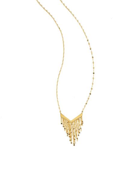 Lana Petite 14K Gold Fringe Pendant Necklace