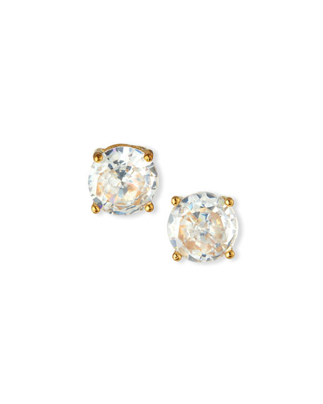 Prong-Set Cubic Zirconia Solitaire Earrings