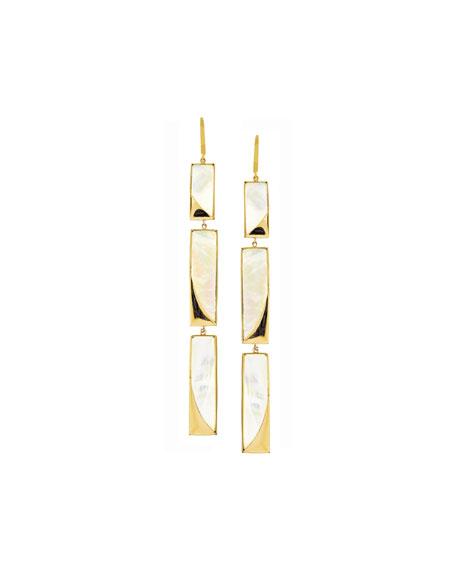 Long Satin Drop Earrings