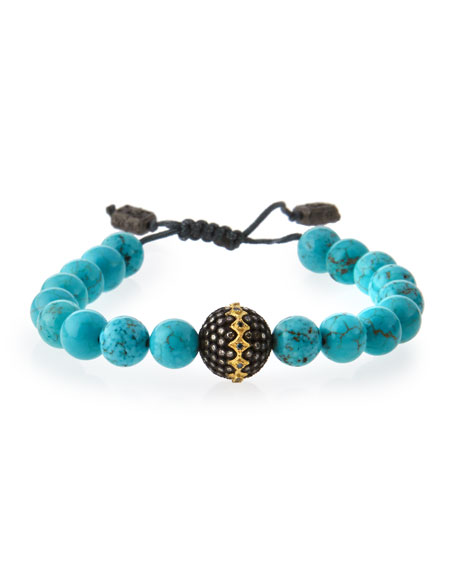 Armenta Old World Midnight Magnesite Bead Bracelet with