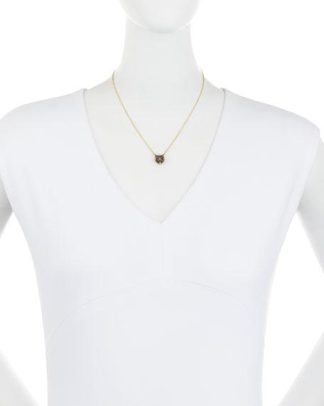 Old World Midnight Pave Diamond Cushion Necklace
