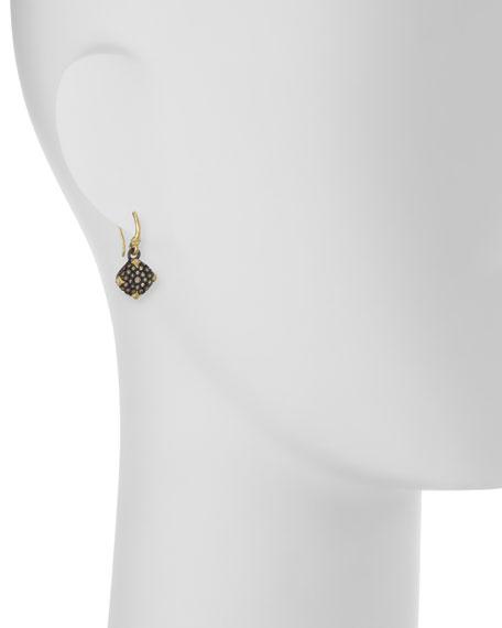 Old World Midnight Diamond Cushion Earrings
