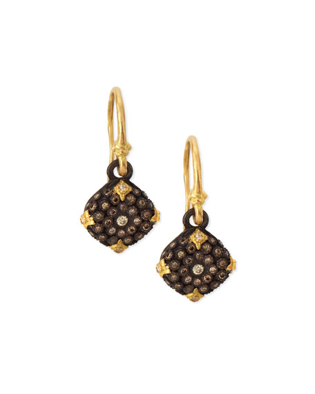 Armenta Old World Midnight Diamond Cushion Earrings