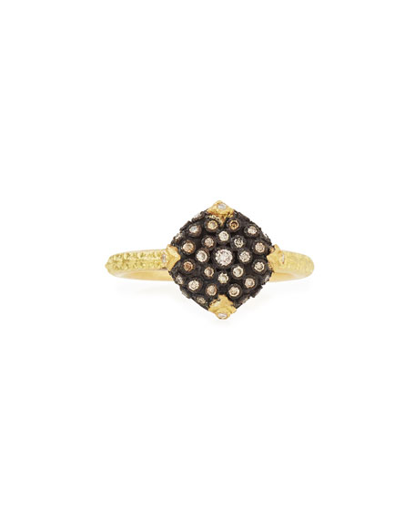 Armenta Old World Pave Diamond Cushion Ring