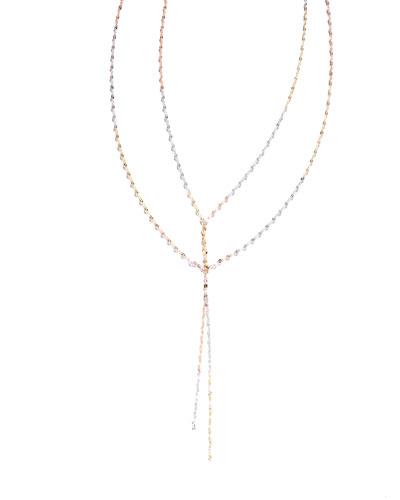 Blake Three-Tone Mega Chain Necklace, 38