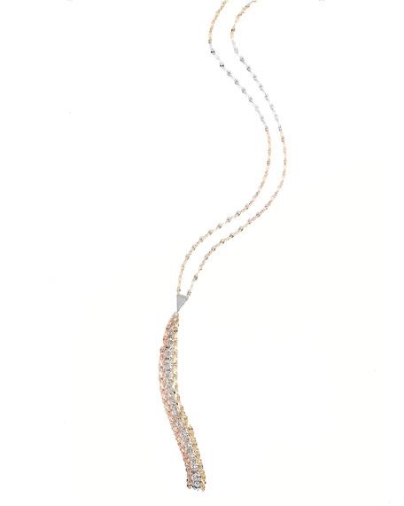 Lana Blake Three-Tone Mega Tassel Chain Necklace