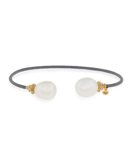 Pearly Tip Cuff Bracelet