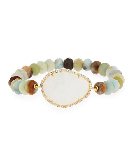 Rock Crystal Bead Bracelet