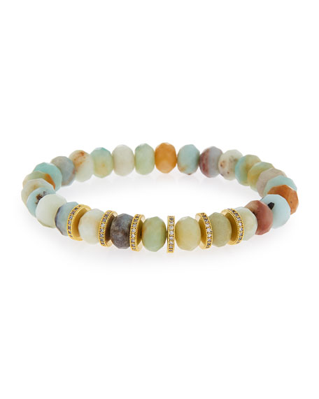 Tai Amazonite Bead Stretch Bracelet