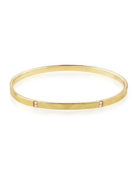 18K Gold Senso™ 5-Section Bangle with Diamonds, 0.19 ctw