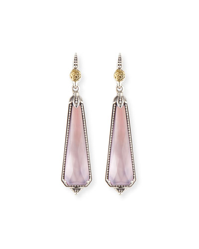 Pink Mother-of-Pearl Doublet Drop Earrings