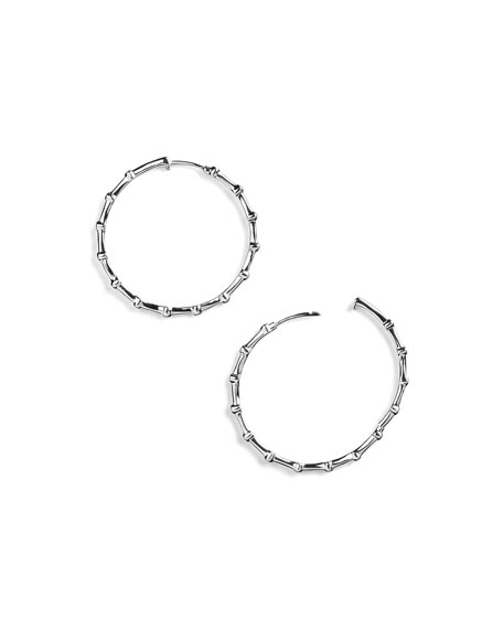 925 Glamazon Diamond Hoop Earrings